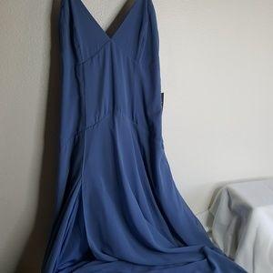 Lulus blue bridesmaid maxi dress Plus Size 16